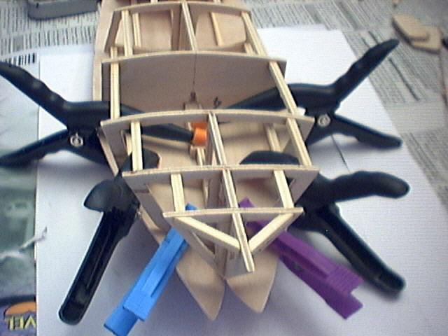 木制飞机制作过程
